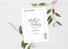 Minimalist Design is majorly trending for 2020 weddings - set the tone for your modern wedding with these simple save the dates!
