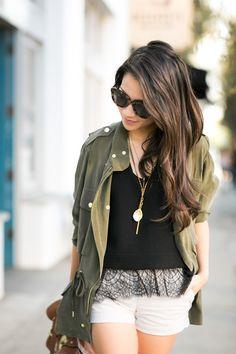 Comfy Friday :: Silk utility jacket & Leopard pumps