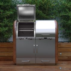 Combined wood fired grill and pellet smoker Outdoor Catering, Fire Grill, Design Development, New Product, Firewood, Barbecue, In The Heights, Grilling, Concept