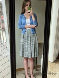 Grey Lyla Skirt   Stitch Fix #2: April 2015 ~ t is for twentysomething