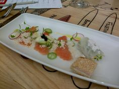 Salmon Trout cured in Miso by Peter Tempelhoff