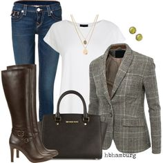 No. 412 - Boyfriend Blazer, created by hbhamburg on Polyvore