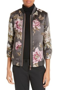 Casual Fall Outfits That Will Make You Look Cool – Fashion, Home decorating Peplum Jacket, Floral Jacket, Printed Bomber Jacket, Print Jacket, Bomber Jackets, Nordstrom Jackets, Casual Fall Outfits, Look Cool, Ted Baker