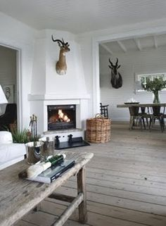 I Design, You Decide: Mountain Fixer-Upper - The Fireplace - Emily Henderson : Emily Henderson Lake House Fixer Upper Mountain Home Decor Fireplace Ideas Rustic Refined Simple White Wood Stone 251 Summer House Interiors, Fixer Upper House, Fireplace Design, Fireplace Ideas, Corner Fireplaces, Fireplace Modern, Fireplace Mantel, Living Room With Fireplace, Home Interior Design