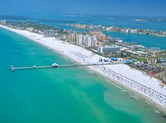 Clearwater Beach, Florida (Pier 60)...  A very nice beach.  Must get there early as parking gets full fast and the traffic heading in crawls after 12noon.