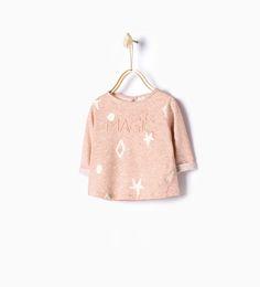 Bild 1 von Shirt mit Reliefprint von Zara