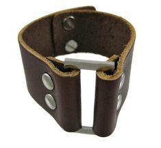 Zeckos Brown Leather Strap Bracelet Chrome Accents for sale online Bracelets For Men, Chrome, Belt, Best Deals, Brown Leather, Accessories, Fashion, Belts, Moda