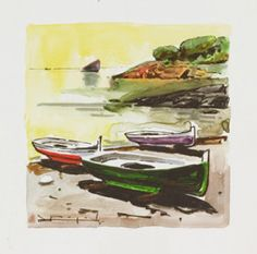 Boats by Ramon Pujol Various Artists, Art Forms, Boats, Sketches, Painting, Magick, Colors, Drawings, Boating