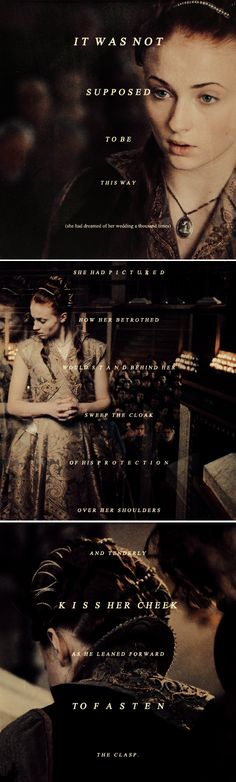 Sansa Stark: She was mortified. #got #asoiaf