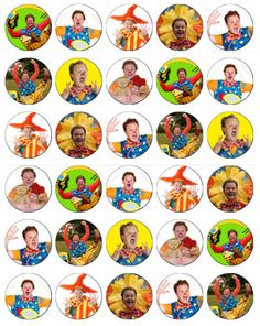 30 x Mr Tumble Rice Paper Fairy Cup Cake Toppers