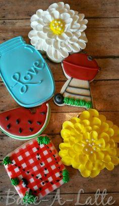 Wedding Shower BBQ theme cookies www.facebook.com/bakealatte