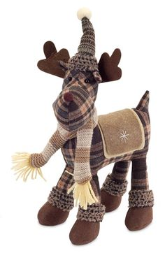 Melrose Gifts Plaid Moose Decoration