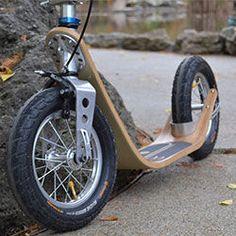 Wooden Scooter, Wood Bike, Mini Moto, Mini Bike, Scooter Bike, Kick Scooter, Scooter Design, Bicycle Design, Bike Rollers