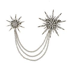 Give your cardigan a little burst of shine with the silver Starburst Sweater Clips!