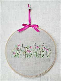 Hand embroidery in hoop Embroidery wall art Flower Garden