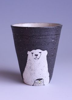 Animal tumbler - polar bear and penguin by muratakaori