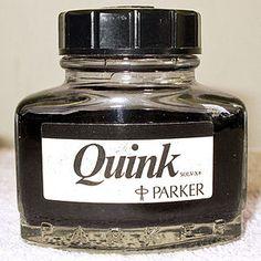 Quink fountain pen ink
