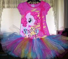 My Little Pony Pinkie Pie tutu dress  by DesignsbyClaudia on Etsy, $27.99 My Little Pony Dress, Pinkie Pie, Mlp, Tutu, Trending Outfits, Birthday, Handmade Gifts, Vintage, Etsy