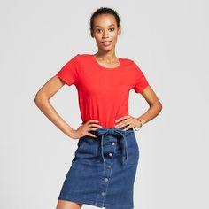 bedf9f7e92b Women s Short Sleeve Vintage Crew T-Shirt - A New Day™