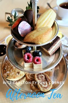 An Afternoon Tea at the Ritz Carlton in Tysons Corner, Virginia is a treat for the soul. Make sure and get the ROyal tea that comes with a glass of Rose!