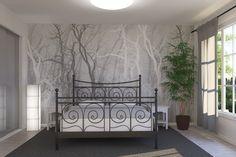 Wander Trees Charcoal - Fototapeten & Tapeten - Photowall