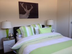 Indigo Deer canvas hanging in the home of Shannon  #urbanroad #canvas #art
