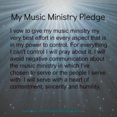 Music Ministry Pledge