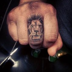 ... Fingers Posts Barbells Tattoos Gauges Lion Finger Tattoos