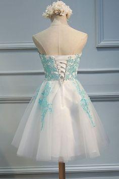 2017 Homecoming Dress Sweetheart Ivory Short Prom Dress Party Dress JK141