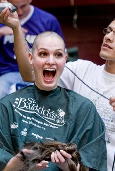 St. Baldricks head shaving for a cure:) doing this once i grow out my hair:)