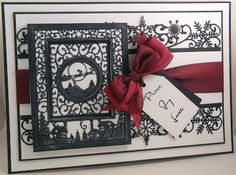 John Next Door: Christmas mini Scene Sue Wilson, Christmas Card Crafts, Christmas Cards, Christmas Trees, Tattered Lace Cards, Card Making Designs, Christmas Sentiments, Spellbinders Cards, Cricut Cards