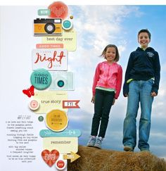 Scrapbooking Large Photos with an embellishment border by Lisa Dickinson.
