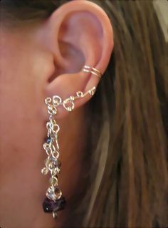 No Piercing Cartilage Earring Handmade by ArianrhodWolfchild, $20.00