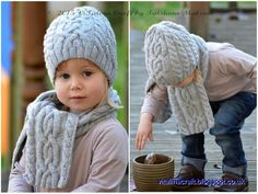 Cloudlet Hat and Scarf FREE Knitting Pattern                                                                                                                                                                                 More