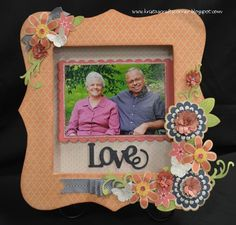 Bracket Frame by Krista Hershberger using CTMH Claire paper