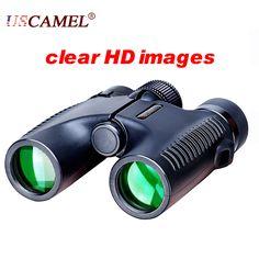 USCAMEL HD 10x26 Binoculars Powerful Zoom Long Range 5000m Professional Waterproof Folding Telescope Wide Angle Vision Hunting