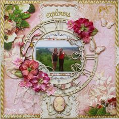 Scrapbook page made by Gabrielle Pollacco for Australian Scrapbook Ideas Magazine (Issue 23) using Websters Pages holiday themed papers in a non-themed page.