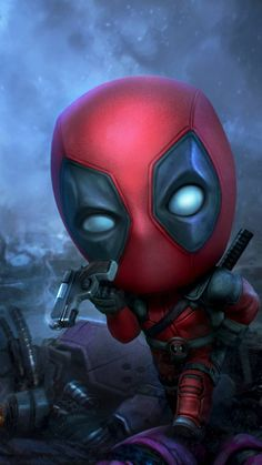 Deadpool Iphone Backgrounds – Page 2 Deadpool Chibi, Cute Deadpool, Chibi Marvel, Deadpool Art, Marvel Art, Avengers Cartoon, Baby Avengers, The Avengers, Deadpool Wallpaper