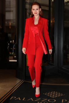 Madelaine Petsch's Post-Breakup Outfit Is Cheryl Blossom-Approved Cheryl Blossom Riverdale, Riverdale Cheryl, Classy Outfits, Chic Outfits, Fashion Outfits, Lawyer Fashion, Red Suit, Looks Chic, Business Outfits