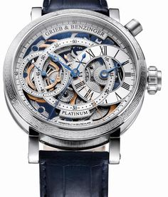 Grieb & Benzinger Blue Whirlwind, a unique tourbillon minute repeater with a visible tourbillon movement by Patek Philippe in stainless steel Cheap Gold Watches, Gold Watches Women, Rolex Watches For Men, Luxury Watches, Unique Watches, Ladies Watches, Wrist Watches, Men's Watches, Richard Mille