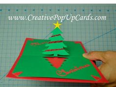 Easy Christmas Tree Pop Up Card Tutorial