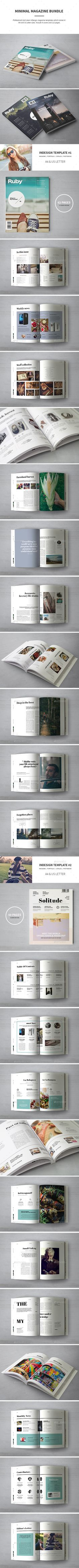 Magazine Bundle: Professional and clean InDesign magazine templates. Includes 4 covers and 112 pages for articles, interviews, gal Foto Magazine, Print Magazine, Layout Design, Print Design, Graphic Design, Indesign Magazine Templates, Publication Design, Print Templates, Product Catalogue