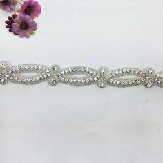 Handmade Wedding Sash/Belt Rhinestone Sash applique work designs for dresses or bridal headband,the size of it,2.5x5 yards/package.www.sigiving.com