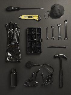 The objects of my profession: antiques restorer. Still life Stylist Sarah Akwisombe, photographer Dan Annett