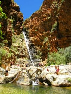 There are two ways to get from the Karoo into the Klein Karoo over / through the Swartberg and both are very scenic. The Swartberg Pass is f. I Am An African, My Land, South Africa, The Good Place, Nostalgia, Waterfall, Van, History, Country