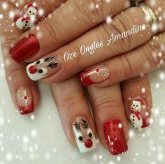 155 festive christmas nail art designs & ideas page 29 Nail Art Noel, Xmas Nail Art, Easter Nail Art, Christmas Gel Nails, Holiday Nails, Fancy Nails, Pretty Nails, Christmas Nail Art Designs, Winter Nails
