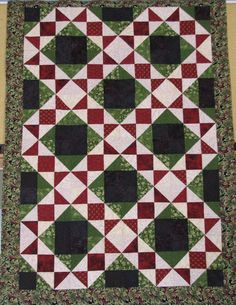 Railroad Scrappy Quilt Pattern VLQ-117 (advanced beginner, lap and throw)