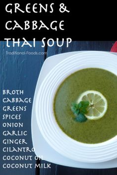 Thai Greens and Cabbage Soup from Traditional-Foods.com