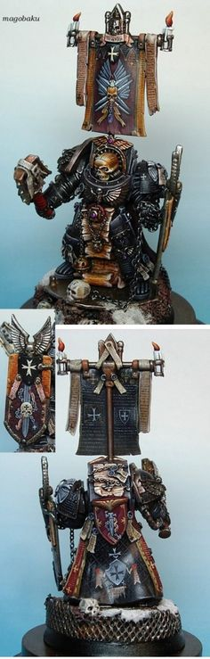 The Internet's largest gallery of painted miniatures, with a large repository of how-to articles on miniature painting Warhammer Figures, Warhammer Models, Warhammer 40k Miniatures, Warhammer 40000, Tabletop, Miniaturas Warhammer 40k, Sci Fi Miniatures, Marine Colors, Grey Knights