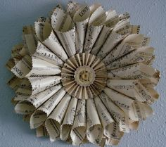 Another newspaper wreath